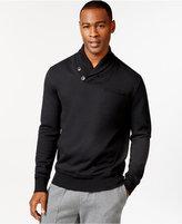 Sean John Alpha Two-Button Shawl Collar Sweatshirt