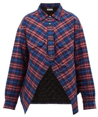 Balenciaga Swing Canadian-checked Cotton-flannel Shirt - Womens - Red Multi