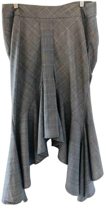 Willow Grey Wool Skirt for Women