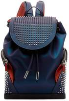 Christian Louboutin Explorafunk Spike Coated-leather Backpack - Mens - Purple