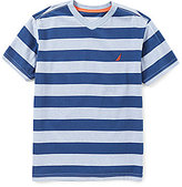Nautica Big Boys 8-20 V-Neck Striped Tee