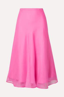 Maggie Marilyn + Net Sustain Because We Can Silk-organza Midi Skirt - Pink
