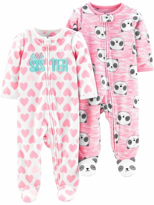 Simple Joys by Carter's 2-Pack 2-Way Zip Fleece Footed Sleep and Play Baby and Toddler Sleepers