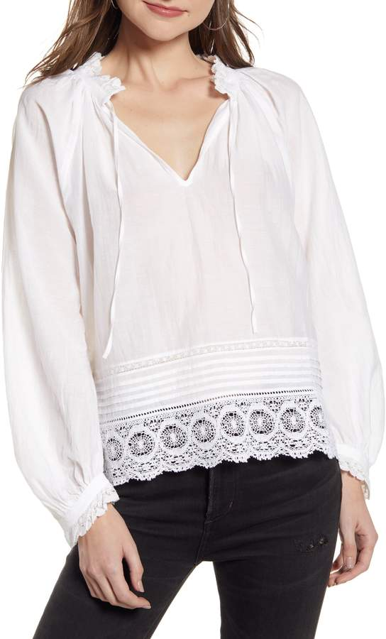 9c6c0b66d9b Theresa Lace Trim Blouse