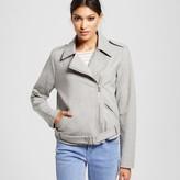 Mossimo Women's Knit Moto Jacket Gray