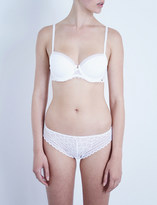 Chantelle Parisian jersey and stretch-lace half-cup t-shirt bra