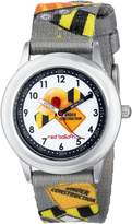 Red Balloon Kids' W000329 Red Balloon Construction Site Kid's Stainless Steel Time Teacher Printed Strap Watch