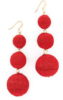 Kenneth Jay Lane Triple Tier Drop Earrings