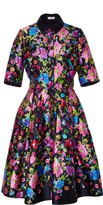 Oscar de la Renta Short Sleeve A Line Dress