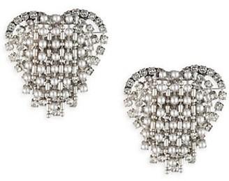 Dannijo Cecily Crystal Heart Pendant Earrings