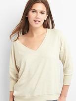 Softspun crop V-neck sweatshirt