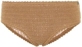 She Made Me Crochet-knit bikini bottoms