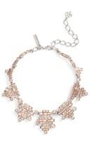 Oscar de la Renta Women's Stacked Baguette Crystal Necklace