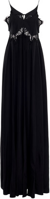 Victoria Beckham Silk Crepe Open-Back Maxi Dress