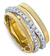Marco Bicego 18K Yellow Gold Goa Five Row Ring with Diamonds