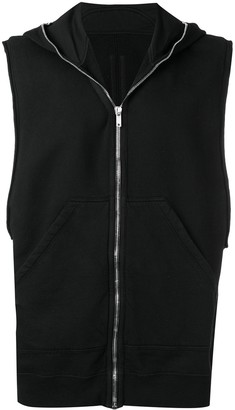 Rick Owens Babel sleeveless Gimp hoodie
