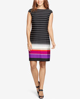 American Living Striped Jersey Sheath Dress