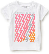 Under Armour Baby Girls 12-24 Months I'm Lightning On My Feet Short-Sleeve Tee