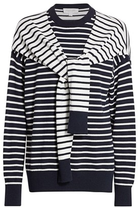 Michael Kors Layered Striped Cashmere Sweater
