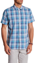 Grayers Anderson Poplin Plaid Regular Fit Short Sleeve Shirt