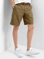 Garment-dyed Linen-cotton Shorts (10