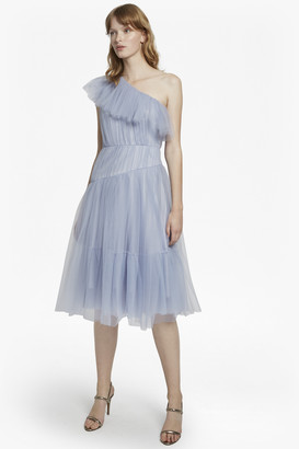 French Connection Luna Sparkle One Shoulder Flared Dress