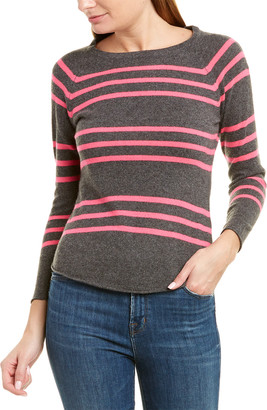 Brodie Cashmere Steph Stripe Sweater