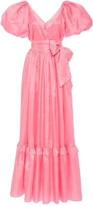 LoveShackFancy Ida Ruffled Taffeta Gown