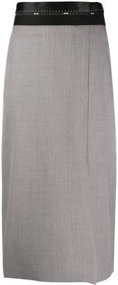 MSGM Logo-Waistband Pencil Skirt