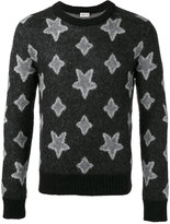 Saint Laurent star print knitted sweater - men - Nylon/Polyamide/Mohair/Kid Mohair - XS/S