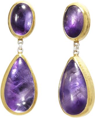 Gurhan Silver Galapagos Double Drop Earrings - Amethyst