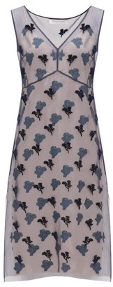 Marina Moscone Fil-coupe Silk-blend Organza Dress - Navy