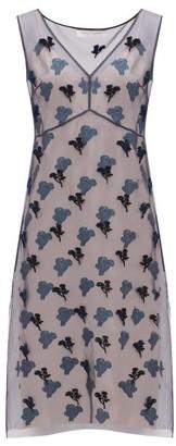 Marina Moscone - Fil-coupe Silk-blend Organza Dress - Womens - Navy