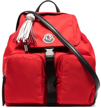 Moncler large Dauphine logo-patch backpack