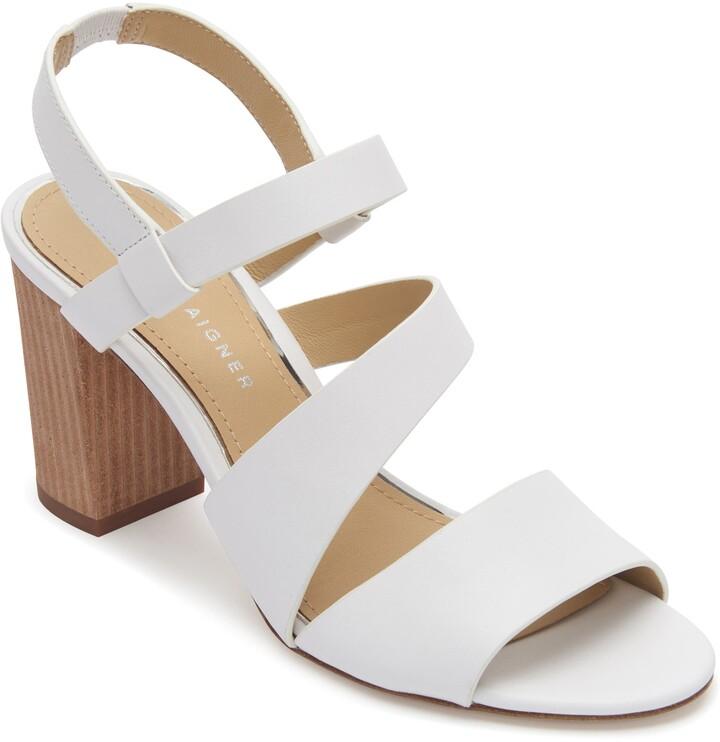 8097a1e7d1 White Block Heel Women's Sandals - ShopStyle