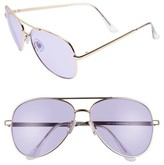 BP Women's Tinted Aviator Sunglasses - Silver/ Purple