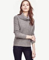 Ann Taylor Cashmere Cowl Neck Sweater