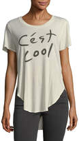 Sol Angeles Women's Cest Cool Overlap Cotton Tee