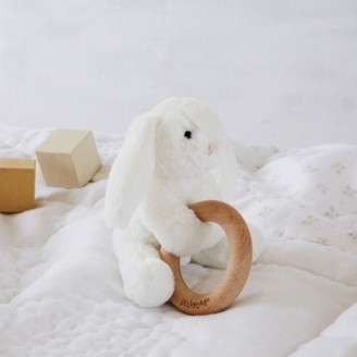 The White Company Jellycat Smudge Bunny Rattle, White, One Size