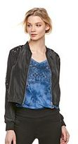 Rock & Republic Women's Lace-Up Crop Bomber Jacket