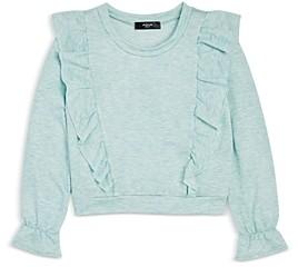 Aqua Girls' Ruffle Sweatshirt, Big Kid - 100% Exclusive