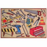 Asstd National Brand Fun Toolbox Rectangle Rugs