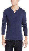 Buffalo David Bitton Men's Walleys Long Sleeve Solid Henley Sweater