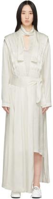 MATÉRIEL White Jacquard Pleated Dress