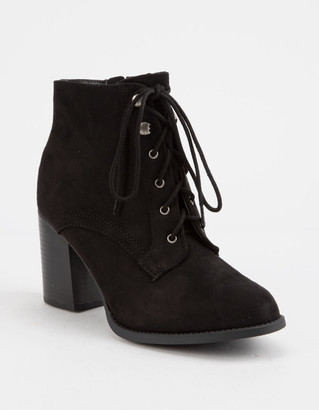 Soda Sunglasses Lurk Black Womens Heeled Booties