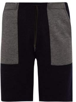 Falke Ess - Patch-pocket Terry Shorts - Mens - Navy Multi
