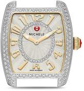 Michele Urban Mini Two-Tone Diamond Dial Watch Head, 29 x 30mm
