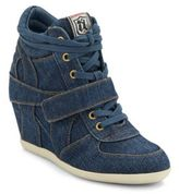 Ash Bowie Denim Wedge Sneakers