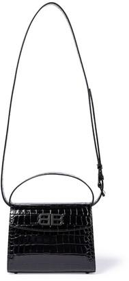 Balenciaga Ghost Small croc-effect shoulder bag