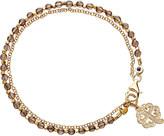 Astley Clarke Four leaf clover smoky-quartz friendship bracelet